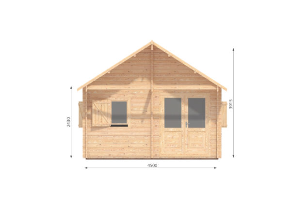 DUNDALK LOG CABIN   4.5m X 6m + LOFT 14