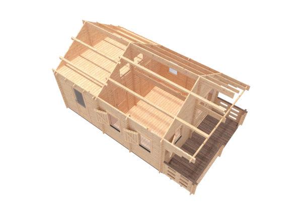 DUNDALK LOG CABIN   4.5m X 6m + LOFT 17