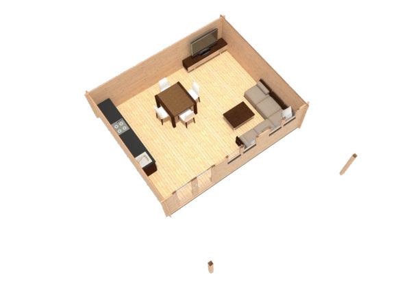 LEIXLIP LOG CABIN   6m X 5m 9