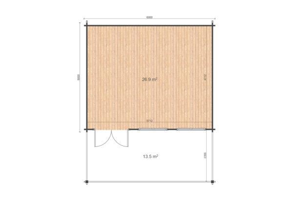 LEIXLIP LOG CABIN   6m X 5m 11